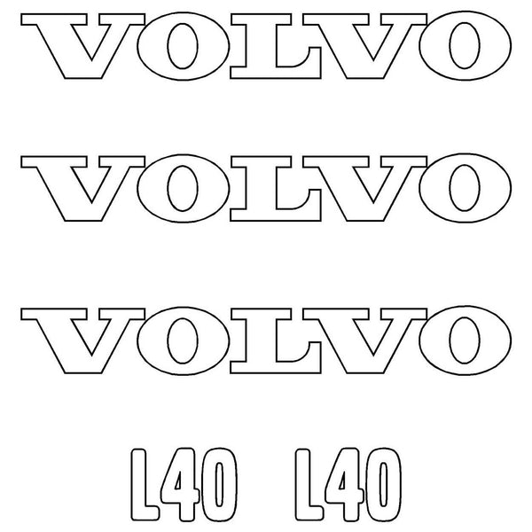 Volvo L40 Decals