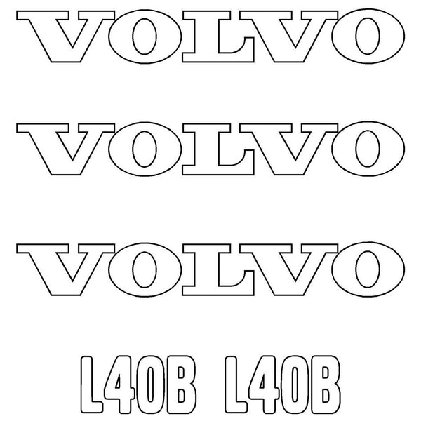 Volvo L40B Decals