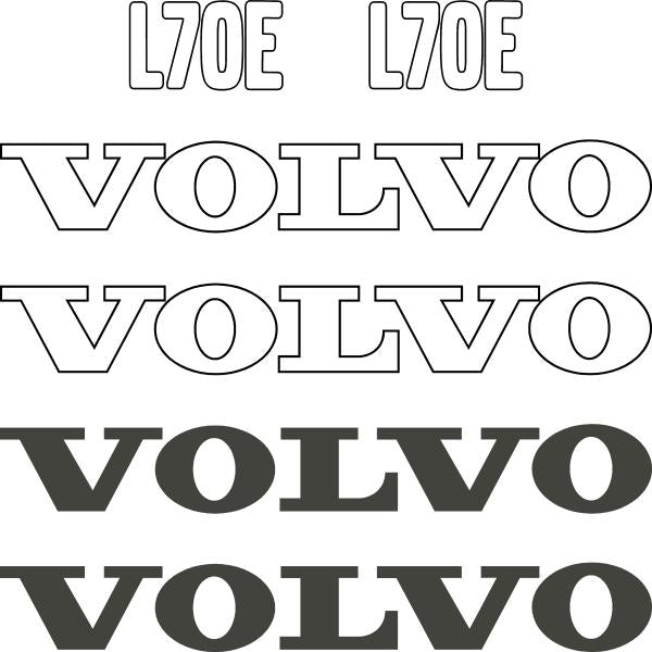 Volvo L70E Decals Stickers