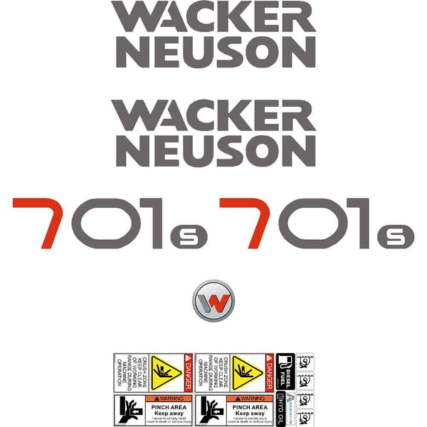 Wacker Neuson 701S Decals