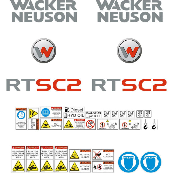 Wacker Neuson RTSC2 Decals
