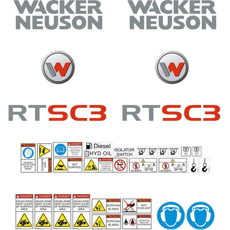 Wacker Neuson RTSC3 decals