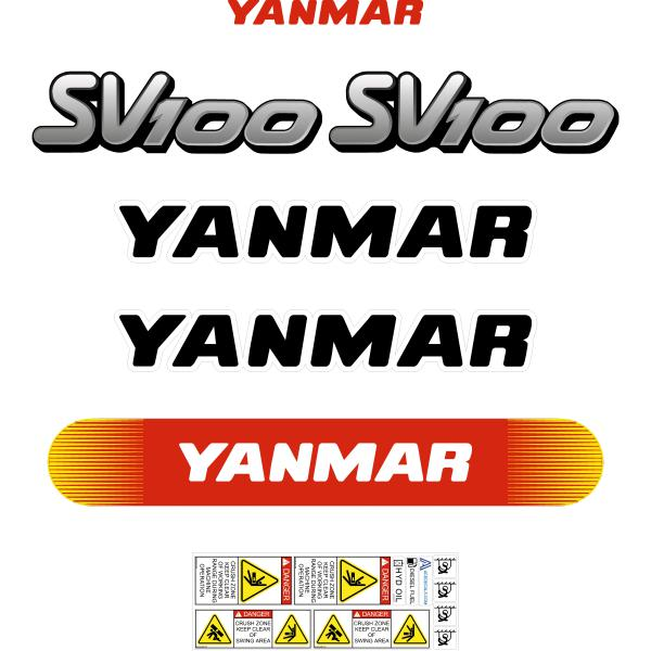 Yanmar SV100 Decals