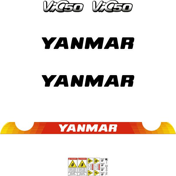 Yanmar Vio50-6 Decals Stickers Kit