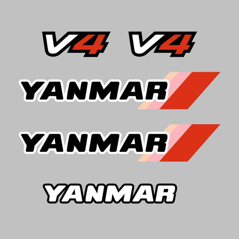 Yanmar V4-4 Decal Kit