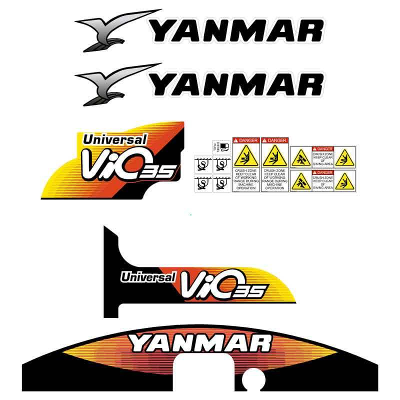 Yanmar Vio35-5 Decals Stickers Kit