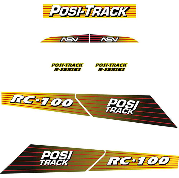 ASV RC100 Decals Stickers Kit