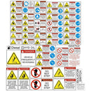 Asphalt Paver Safety Decal Kit