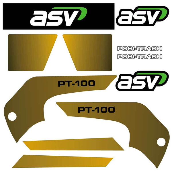 ASV PT100 Decals Stickers Kit