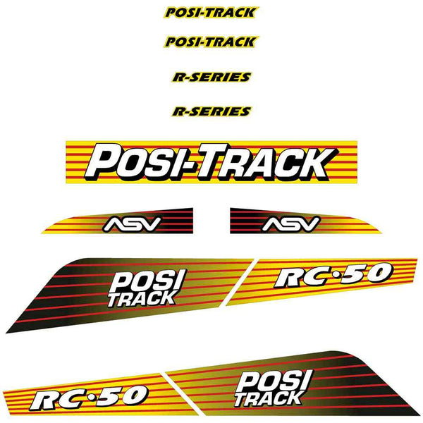ASV RC50 Decals Stickers Kit