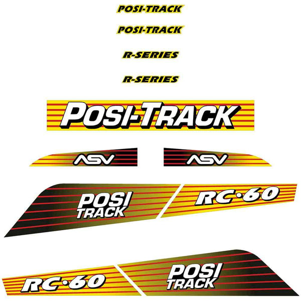 ASV RC60 Decals Stickers Kit