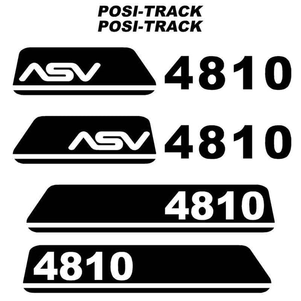 ASV 4810 Decals Stickers Kit