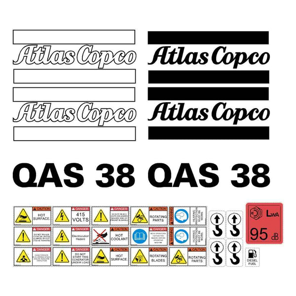 Atlas Copco QAS38 Decals