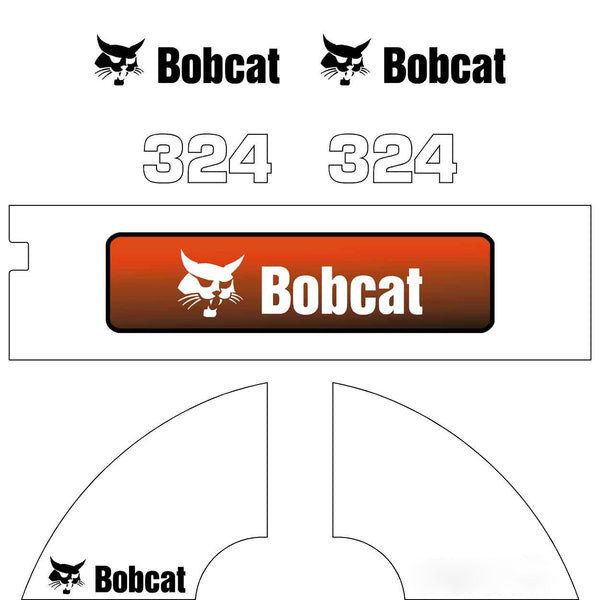 Bobcat 324 Later Style Decals Stickers