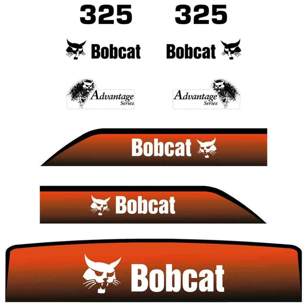 Bobcat 325 IR Decals Stickers