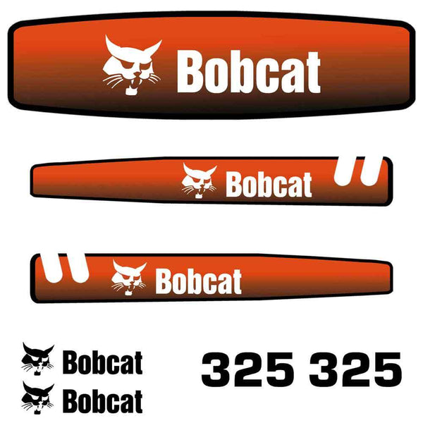 Bobcat 325 Decals Stickers