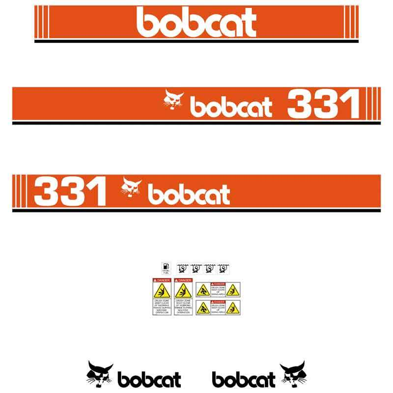 Bobcat X331 Decals Stickers