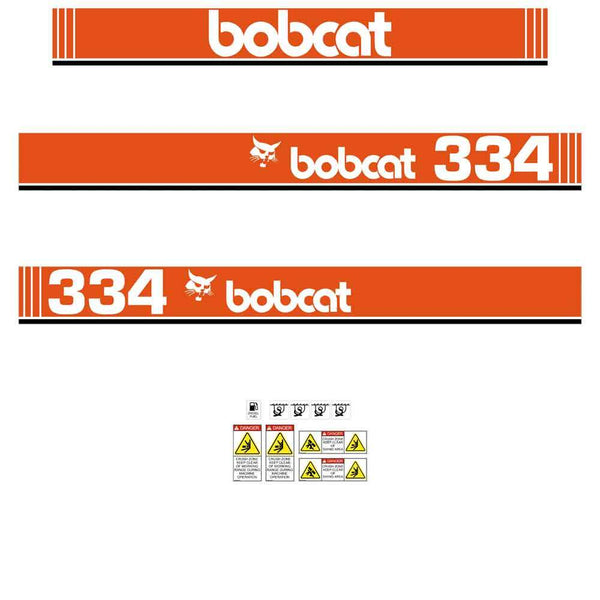 Bobcat 334 X Decals Stickers
