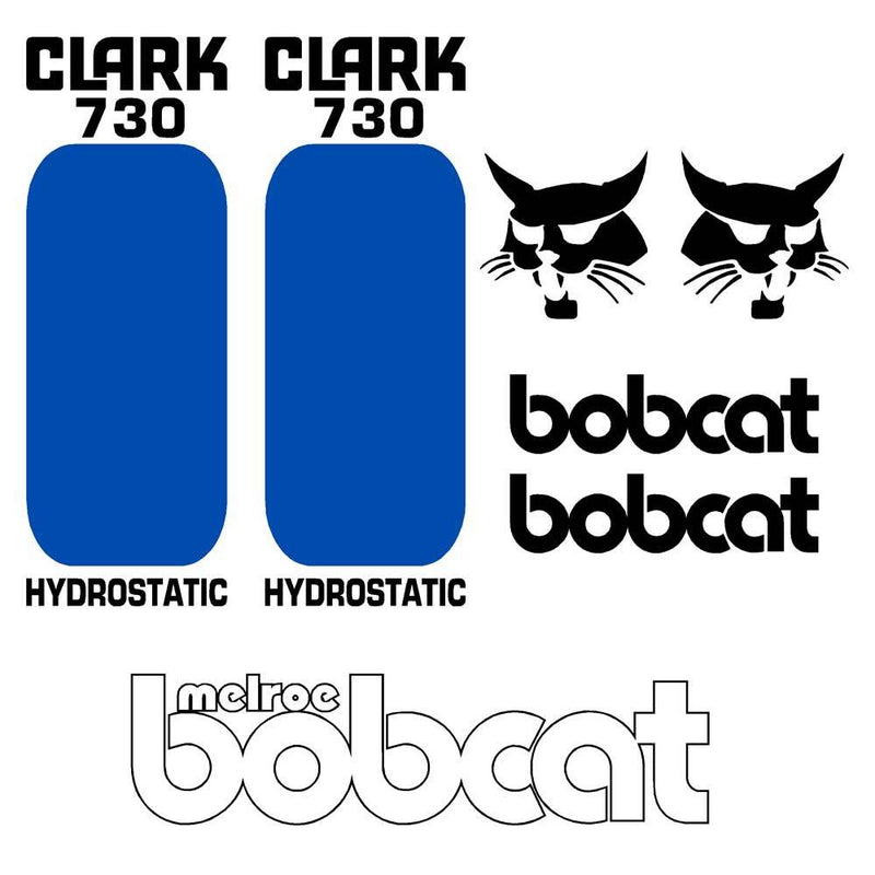 Bobcat 730 Decal Set