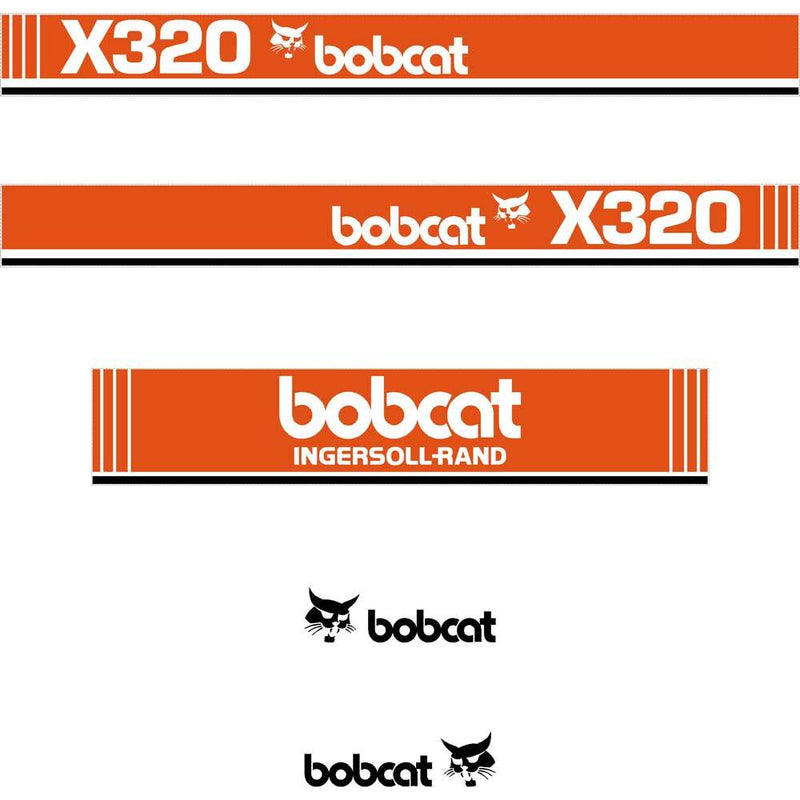 Bobcat X320 Decal Sticker Set
