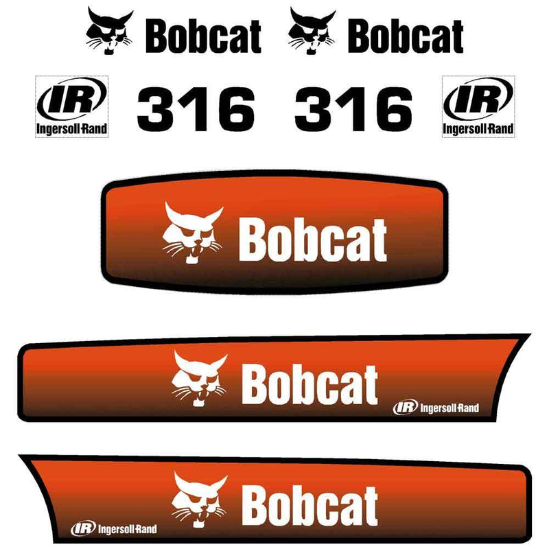 Bobcat 316 Decal Sticker Set