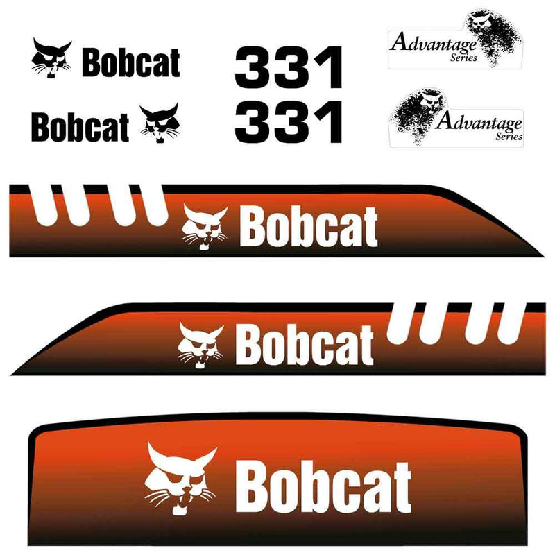 Bobcat IR 331 Decals Stickers - Old Style