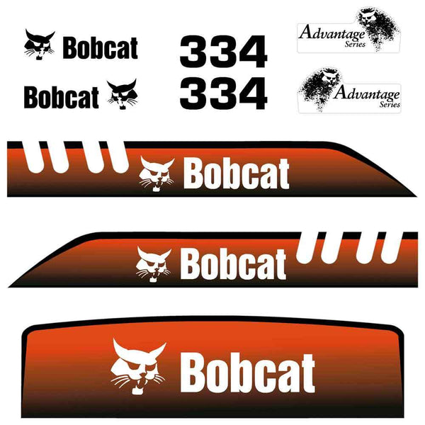 Bobcat 334 Decal Sticker Set - Old Model