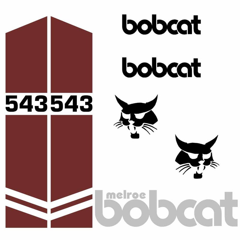 Bobcat 543 Decal Set