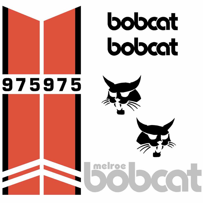 Bobcat 975 Decal Set MELROE