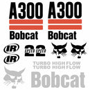 Bobcat A300 Decal Set - 2 Stripe