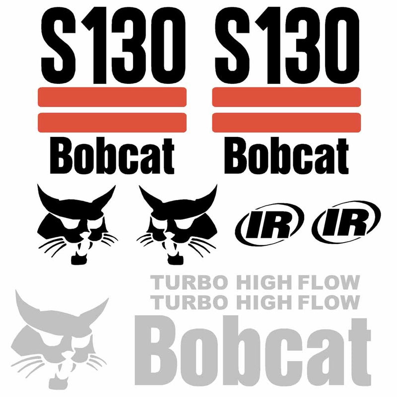 Bobcat S130 Decals Stickers - 2003 On