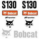 Bobcat S130 Decals Stickers - 2008 On