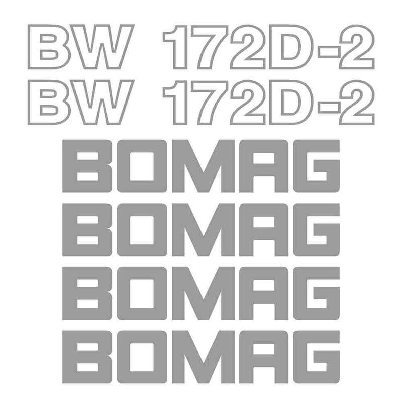 Bomag BW172D-2 Decal Sticker Set