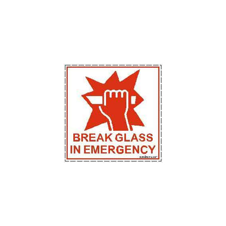 Break Glass in Emergency Safety Decal Sticker