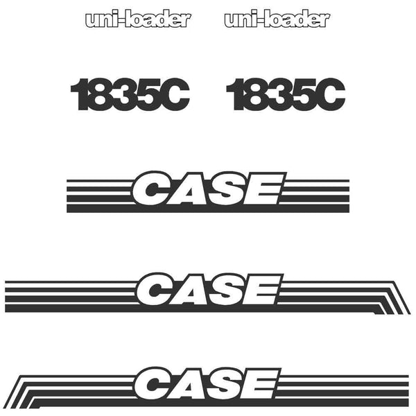 Case 1835C Decal Sticker Set