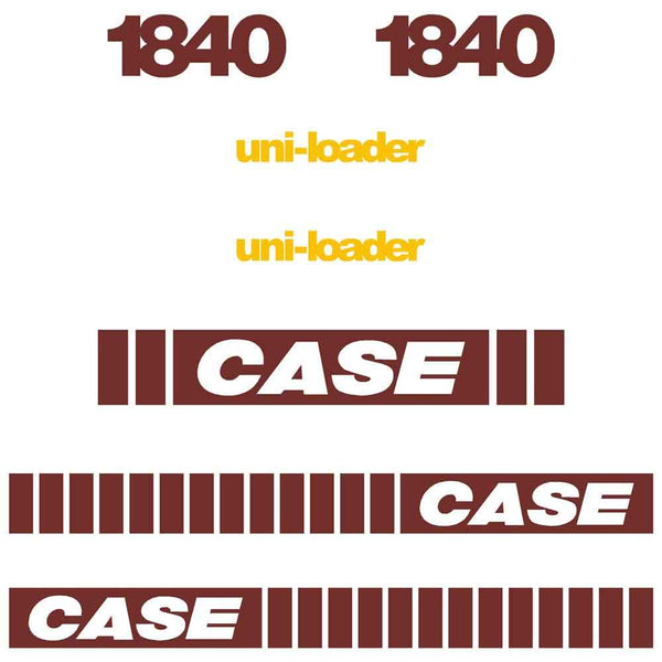 Case 1840 EARLY SERIES Decal Sticker Set