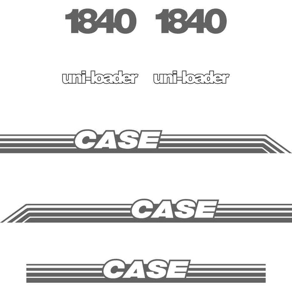 Case 1840 Decal Sticker Set