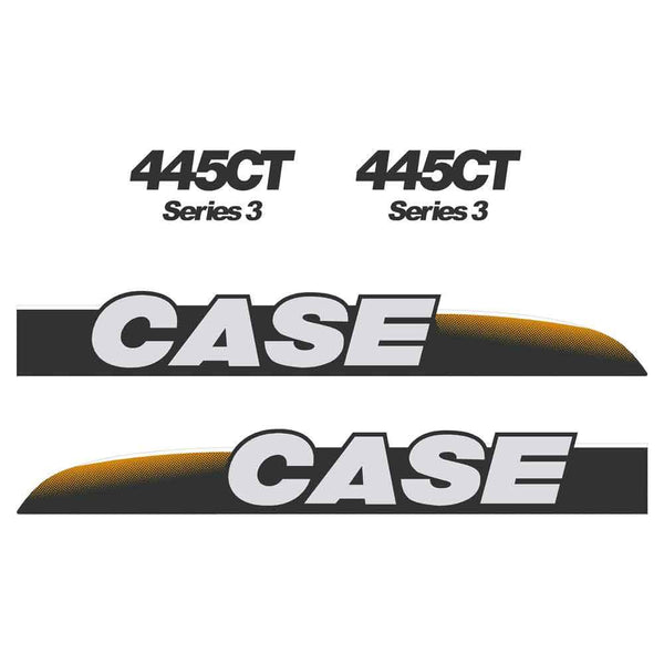 Case 445CT-3 Decals Stickers Set