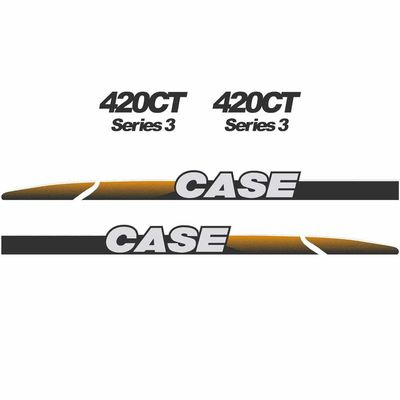 Case 420CT Decal Sticker Set