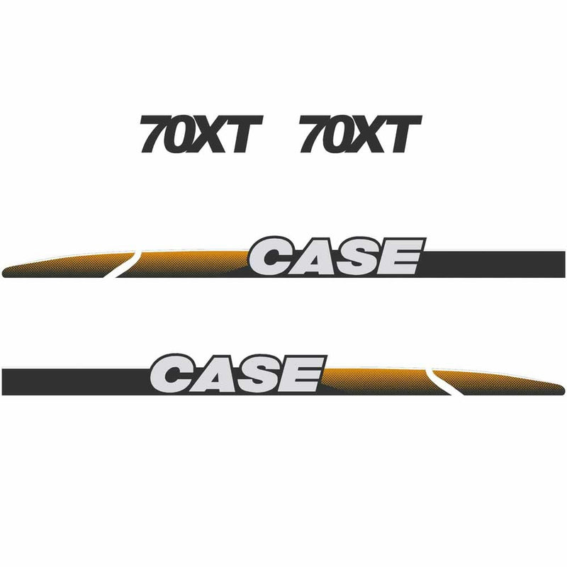 Case 70XT Decal Sticker Set