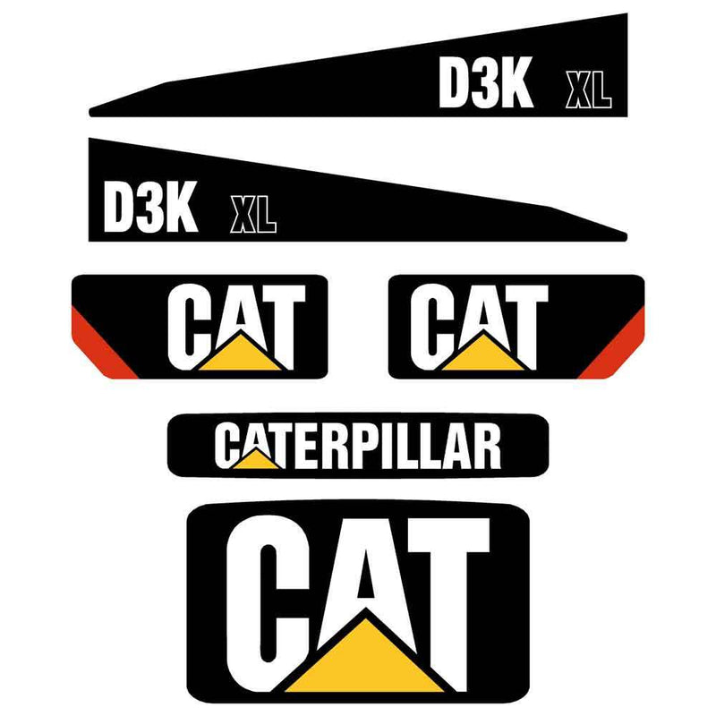 D3K XL Decals Stickers Set