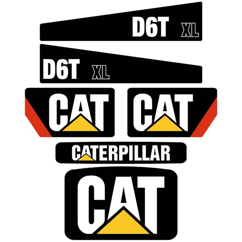 D6T XL Decals Stickers