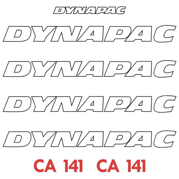 Dynapac CA141 Decal Sticker Set