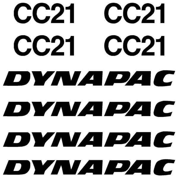 Dynapac CC21 Decals Stickers Set