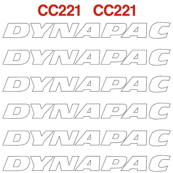 Dynapac CC221 Decals Stickers Set