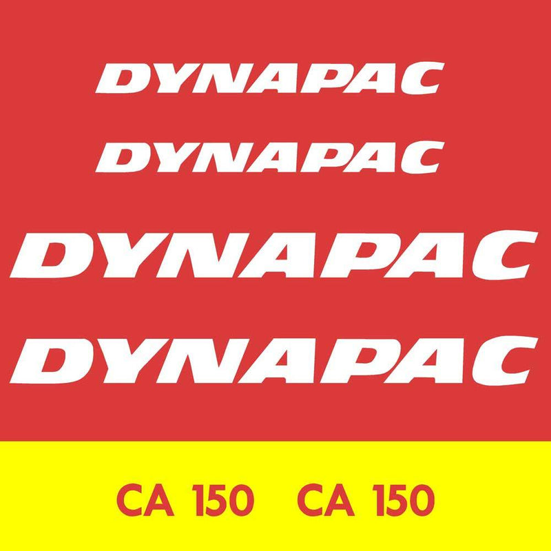 Dynapac CA150 Decal Sticker Set