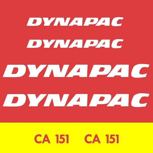 Dynapac CA151 Decal Sticker Set