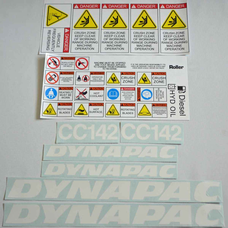 Dynapac CC142 Decal Sticker Set