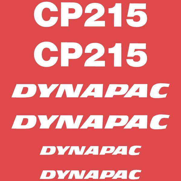 Dynapac CP215 Decal Sticker Set