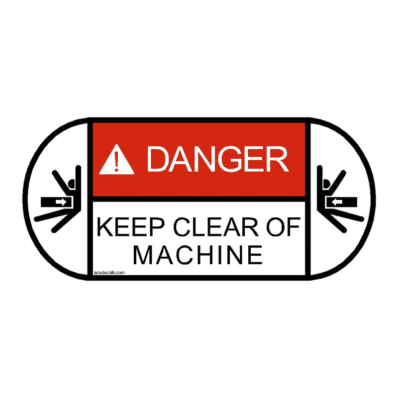 Kobelco Excavator Rear Swing Safety Decal Sticker